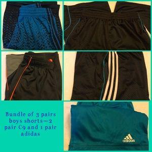 Bundle of 3 pairs boys athletic shorts—C9 & adidas